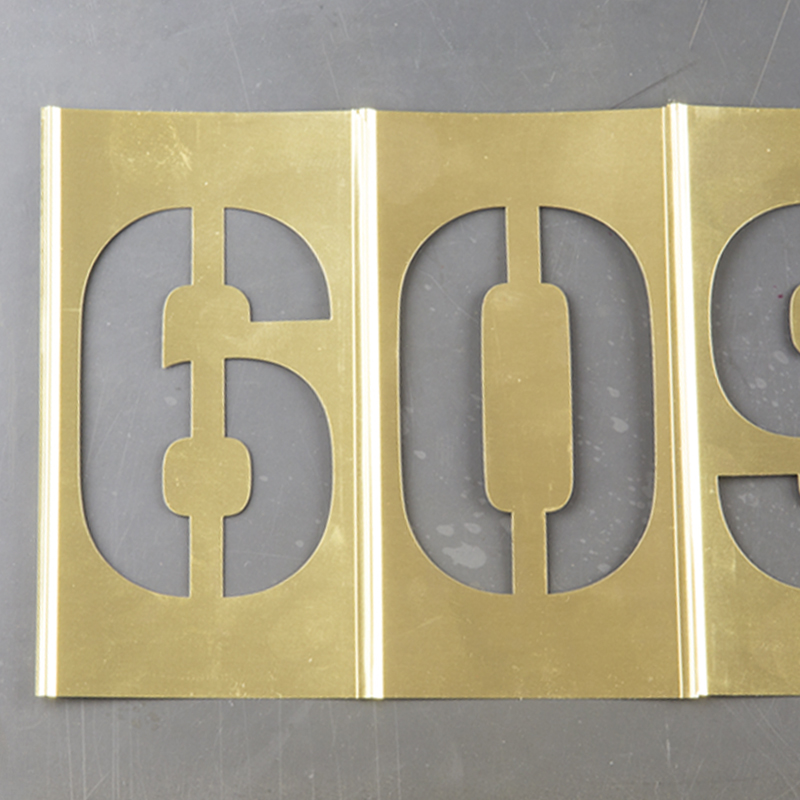 Brass Stencils Young Brothers Stamp Works
